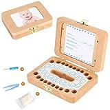 Luchild Milchzahn Box Holz Zahnbox [Deutsch Version] Milchzähne Zahndose deutsch Milchzahndose Zahndöschen für...