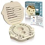 Zrilubkrelz® Zahnbox Zahndose für Kinder aus Holz | inkl. Brief | Deutsche Sprache | 2 Versionen für Junge &...